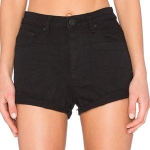 One Teaspoon Black Harlets Shorts